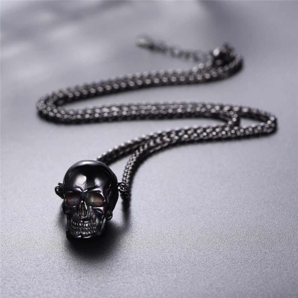 Ожерелье Starlord Skull из нержавеющей стали/золото/черный цвет Мужские Череп ожерелье Панк/готическое ожерелье подарок на Хэллоуин GP2776