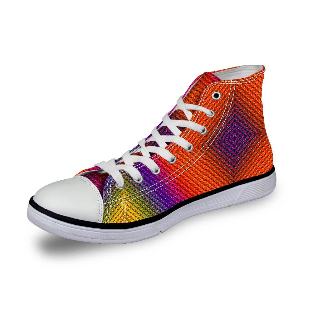 Noisydesigns wanita vintage tinggi top sneakers gadis kasual renda - Sepatu Wanita - Foto 3