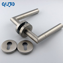 Фотография Grade 1 Commercial Tube Door Handles Lever On Rose Door Handle Bedroom Door Lever Handles Satin Color Handle