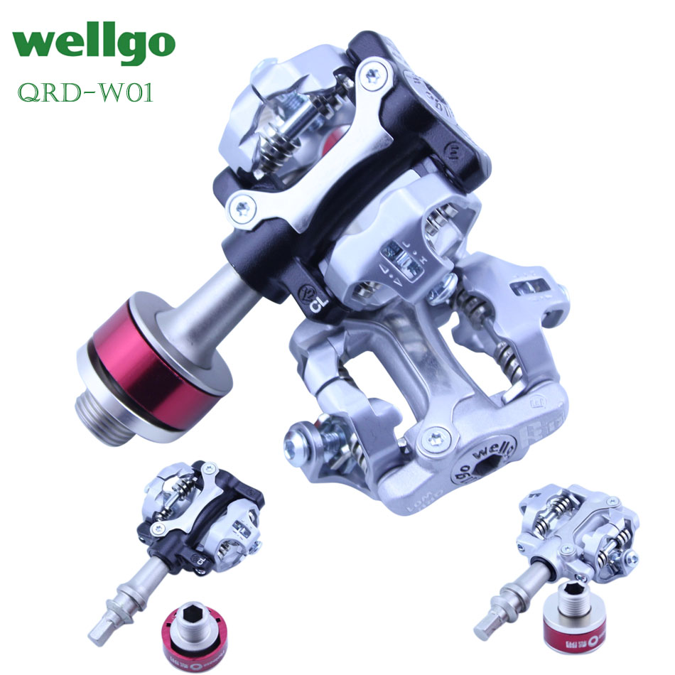 wellgo w01 pedal bicycle lock pedal quick release bearing pedal mountain bike Road bicycle lock pedal
