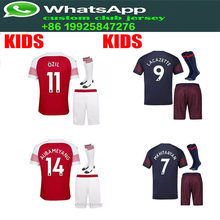 d3092ca93 kids kit 1819 Arsenal jersey shirt LACAZETTE OZIL TORREIRA AUBAMEYANG  MKAHITARYAN 2019 Arsenal t-shirt