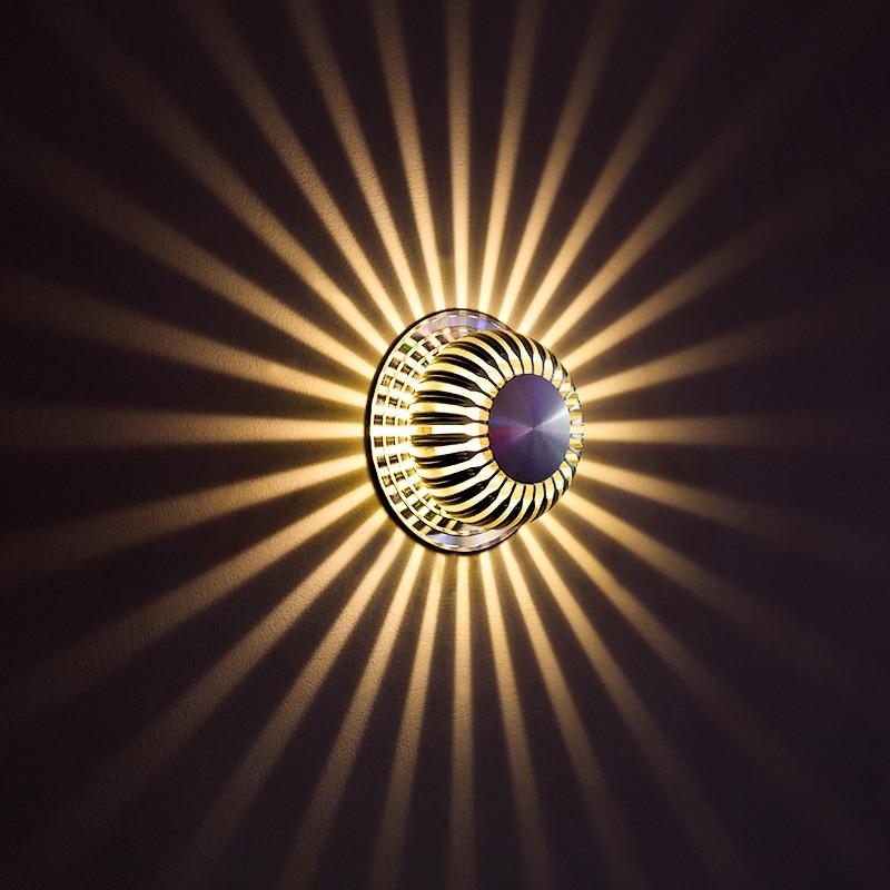 aluminum sconce decorative wall light corner wall lamp 3w ac85 265v