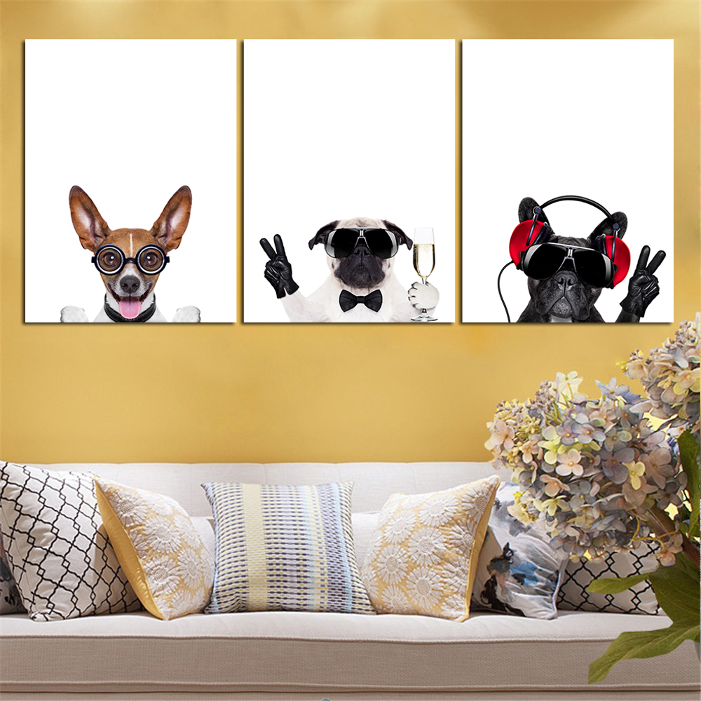 Abstract Free Shipping Mordern Nordic Oil Painting HD Dog Animal ...
