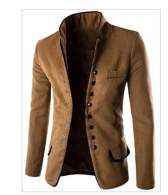 Para mujer Primavera Y Otoño Pequeña Chaqueta Ocasional Del Juego de Un Solo Pecho Color sólido Masculino de La Manera Blazers Trajes Tops L Y Blaser J1445
