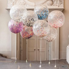 12/18/36 Inch Transparent Balloons Latex Round Heart Star Shape Balloon Wedding Brithday Party Diy Decoration Ballons