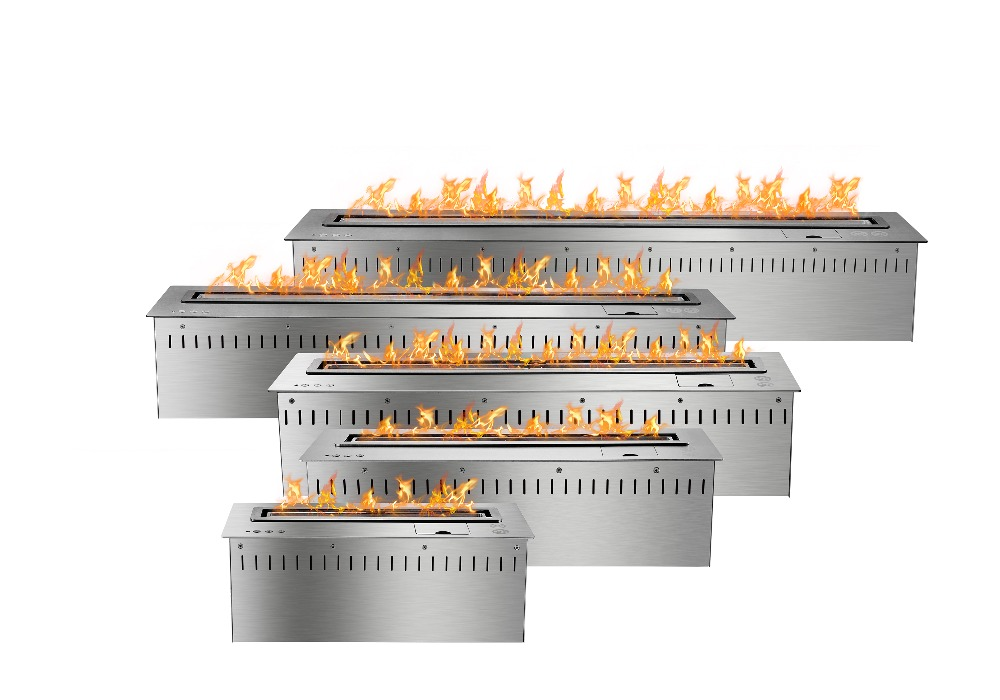 On Sale 24 Inch Outside Fireplace With Bio Fuel Ethanol Burner Lareira Black Silver