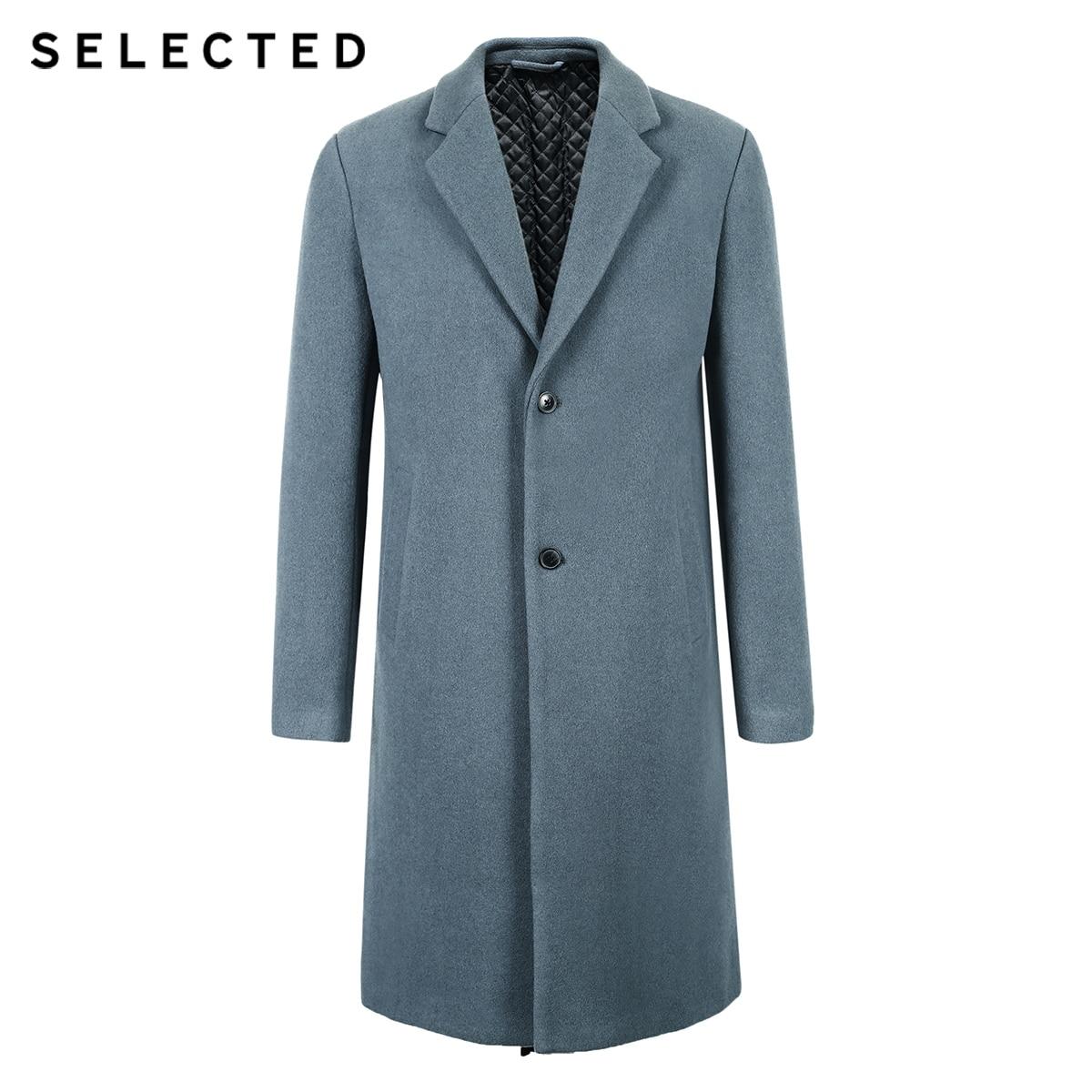 SELECTED Men's Winter Wool-blend Coat Cashmere Jacket Medium Style Woolen Clothes S | 418427551