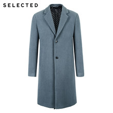 SELECTED Men's Winter Wool-blend Coat Cashmere Jacket Medium Style Woolen Clothes S | 418427551(China)