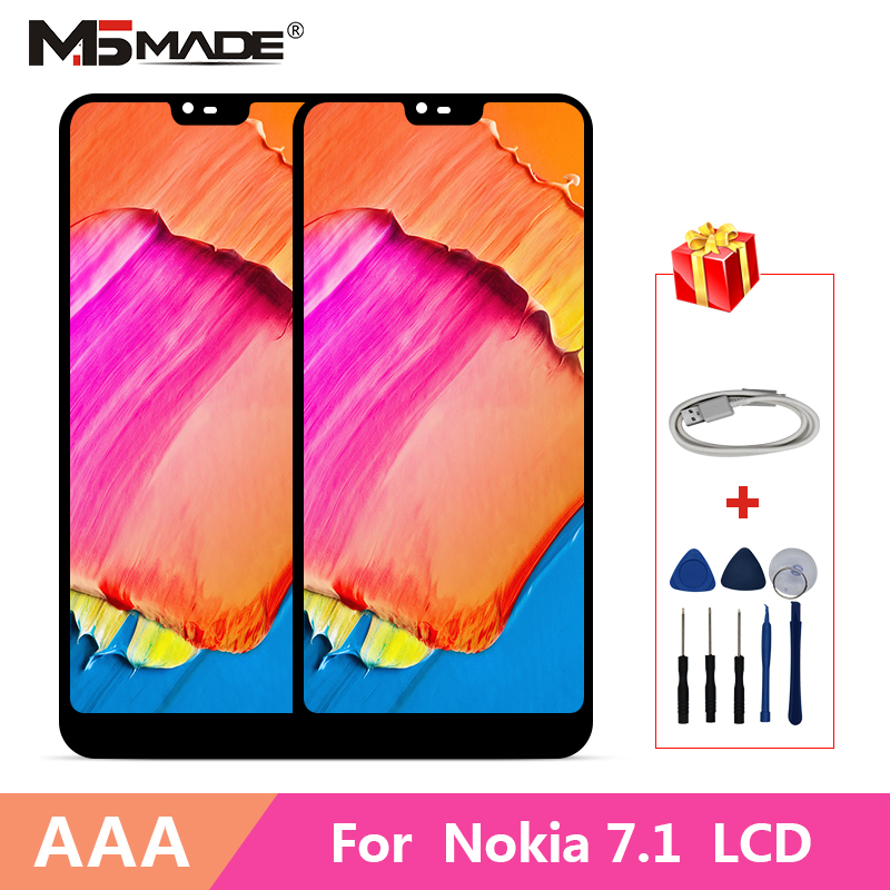 Original For Nokia 7.1 LCD Display Touch Screen For Nokia TA 1085 TA 1095 TA 1096 TA 1100 5.84 LCD Digitizer Replacement Parts