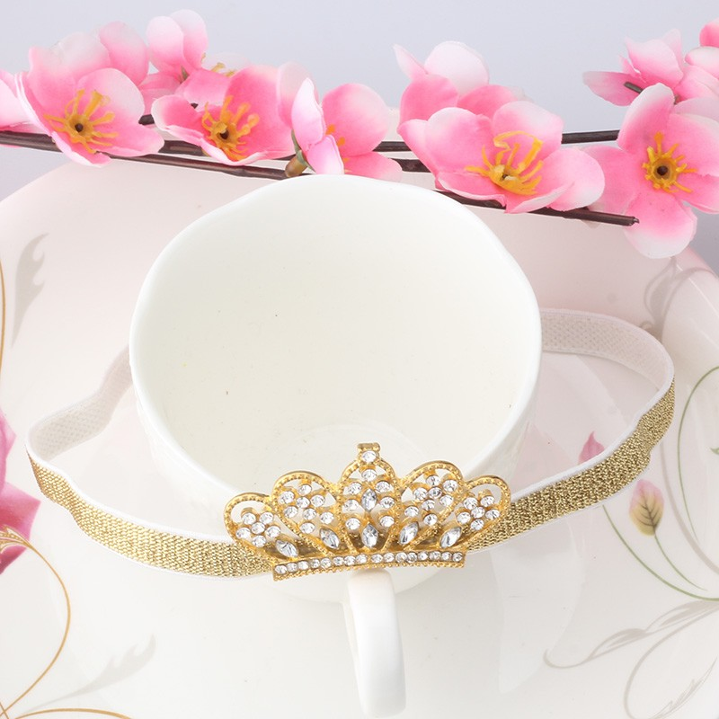 2018 New Fashion Spring and Summer Children Headbands Girls Hair Accessories Baby Hair Band Alloy Rhinestone Kids Crown Headband alloy rhinestone bule bow flower butterfly kids headband cute women girls festival hair accessories headdress fashion hair band