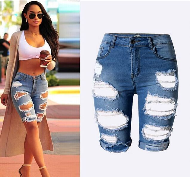 Aliexpress.com : Buy 2016 New Trend European Women Denim Shorts ...
