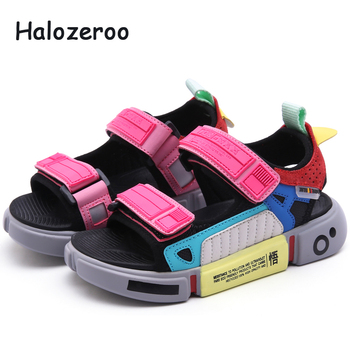 Summer 2019 Kids Beach Sandals Baby Girls Casual Sandals Boys Genuine Leather Shoes Children Sport Sandals Toddler Brand Flats