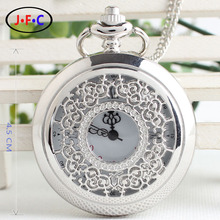 Free shipping Retro quartz Korean female hollow flower type  quartz pocket watch Rome male and female lovers DS005