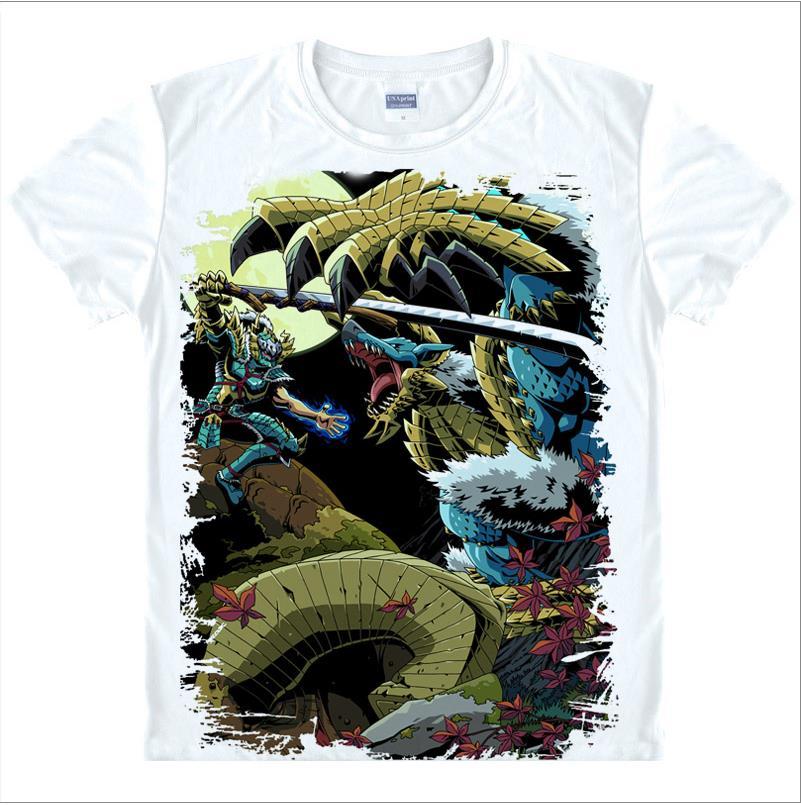 New 2016 Men S Summer Short Sleeve Cartoon T Shirt Monster Hunter