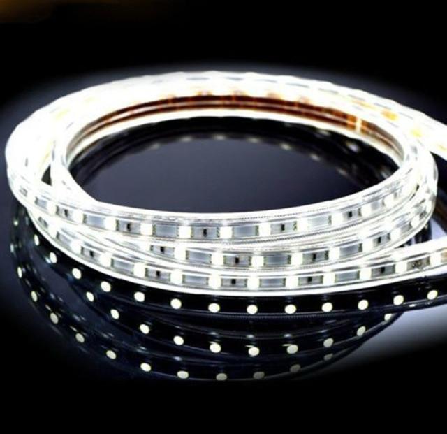 3.3ft 5050 SMD 110V Daylight White Led Strip Lights IP67 Waterproof Outdoor  LED Rope Lights Party Wedding LED String Light For C