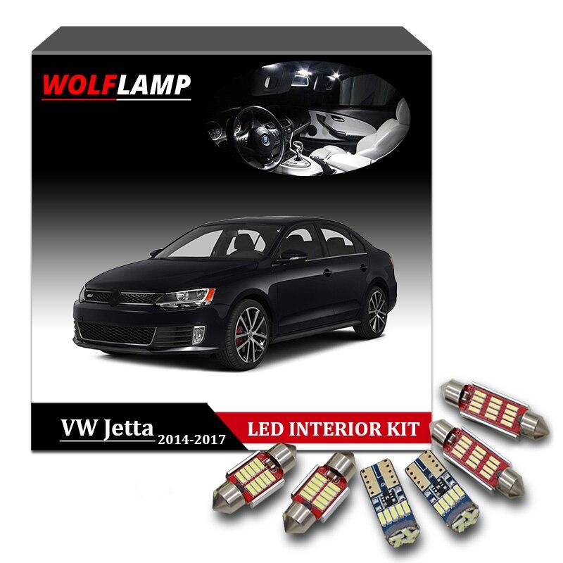 2017 Vw Jetta >> Us 15 79 35 Off Wolflamp 13 Pcs Canbus Putih Led Interior Mobil Lampu Untuk 2014 2017 Vw Volkswagen Jetta 6 Mk6 Vi Peta Lampu Bagasi Lampu Plat