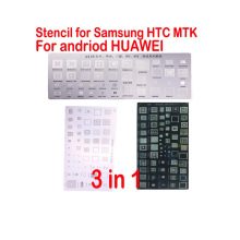 3pcs Directly Heated BGA Stencils for MTK Samsung HTC Huawei Android BGA Reballing Stencils Kit