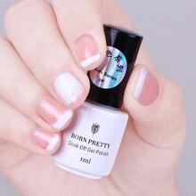 1 Bottle 10ml BORN PRETTY Opal Jelly Gel Pink Jelly Gel Base Coat No Wipe Top Coat White Soak Off Nail UV Gel Polish Varnish