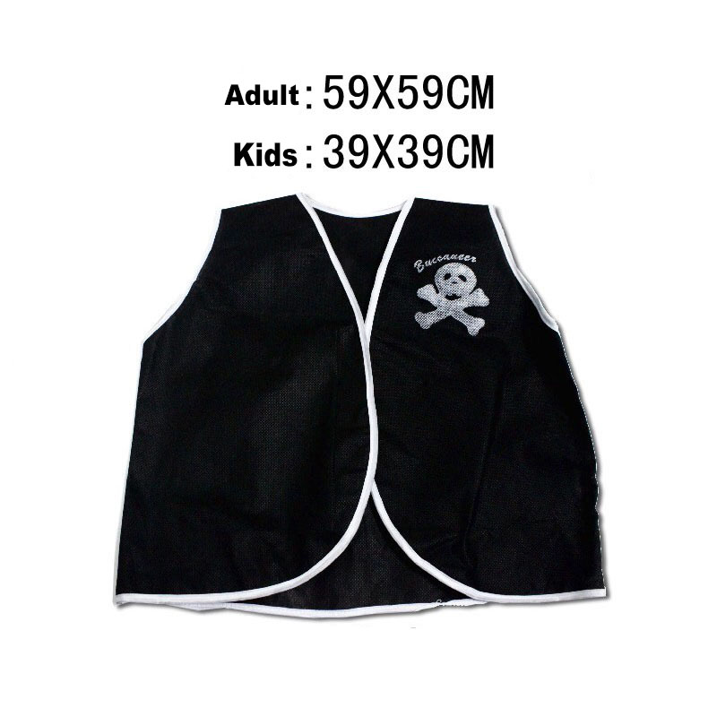 Cheap Kid Boys Girls Halloween Skull Pirate Vest Costume Black Funny Thin Tops Undershirt Primary Children