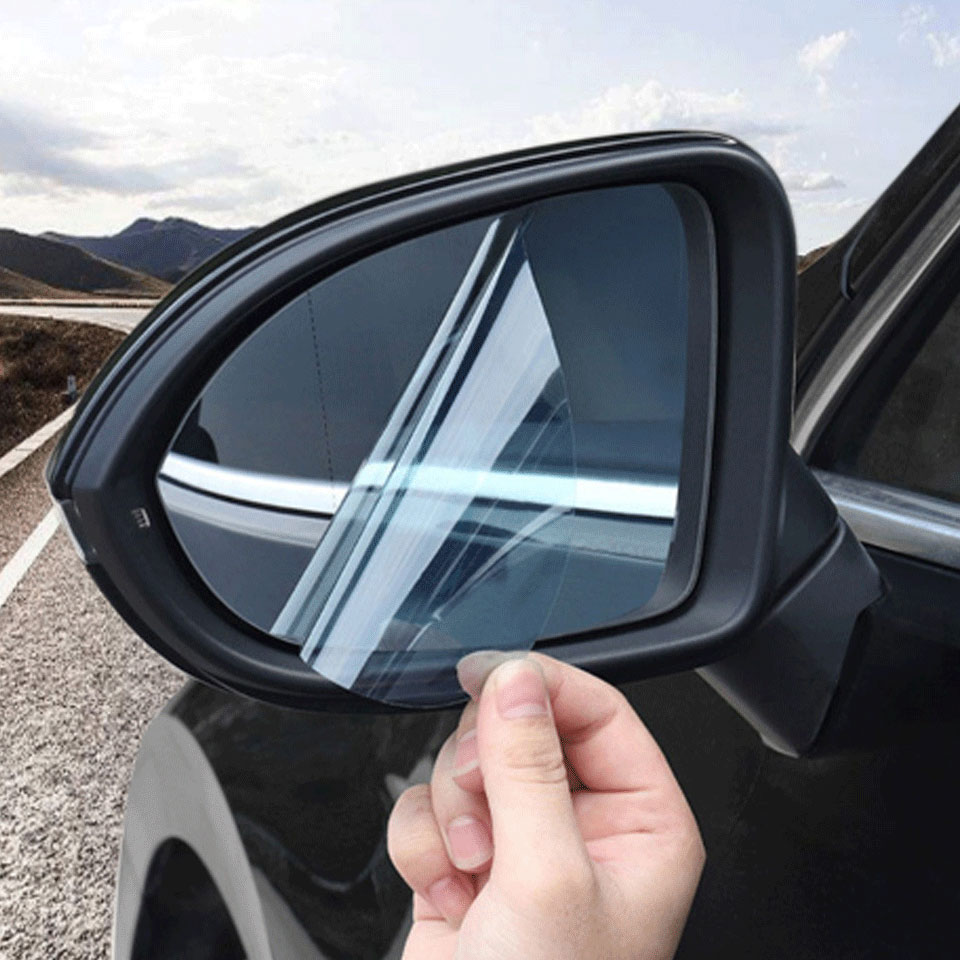 Car-Rearview-Mirror Film Rain-Proof Side-Window-Glass-Film Anti-Fog 2pcs/Set