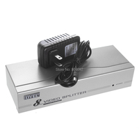 8 Port VGA Video Splitter Box 1 In 8 Out Distributor 8 Monitors Display Same Image 1920x1440 with power 1X8 VGA Splitter