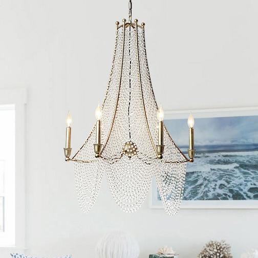 Candelabru de cristal Țara americană Lustre vechi Lustre de cristal - Iluminatul interior - Fotografie 2