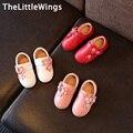 2017 весной новый Моды натуральная кожа Корейской версии Британского стиля милые плоские shoes девушки принцесса girls party shoes
