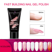 30ml Fast Building Nails Poly Gel LED Light 9Colors Resin Quick Extension Builder Polish For Nail Extensions Crystal Polygel