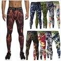Hombres 2016 pantalones pantalones hombres camo de compresión crossfit pantalones leggings