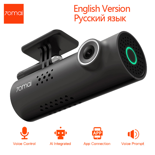 English/Russian Version 70mai Smart Wifi Car DVR Dash Cam Wireless 1080P HD Night Version Car Camera 130 Degree Driving Recorder
