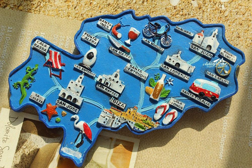 ibiza espanha mapa Mapa da Ilha de Ibiza, espanha Viagens Turísticas Lembrança 3D  ibiza espanha mapa