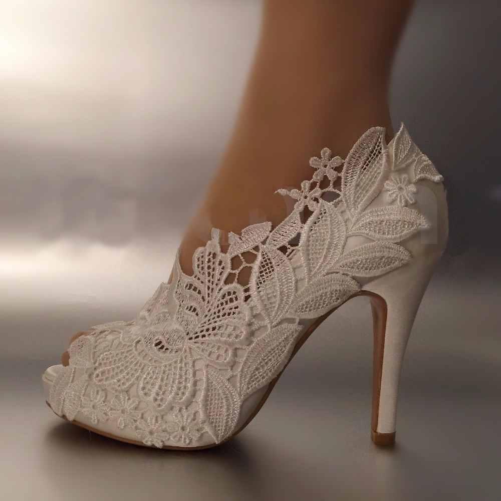 Aliexpress buy peep toe new arrival lace flower shoes aliexpress buy peep toe new arrival lace flower shoes womens pumps fashion bridesmaid dress shoes wedding shoes big size party shoes from reliable ombrellifo Gallery