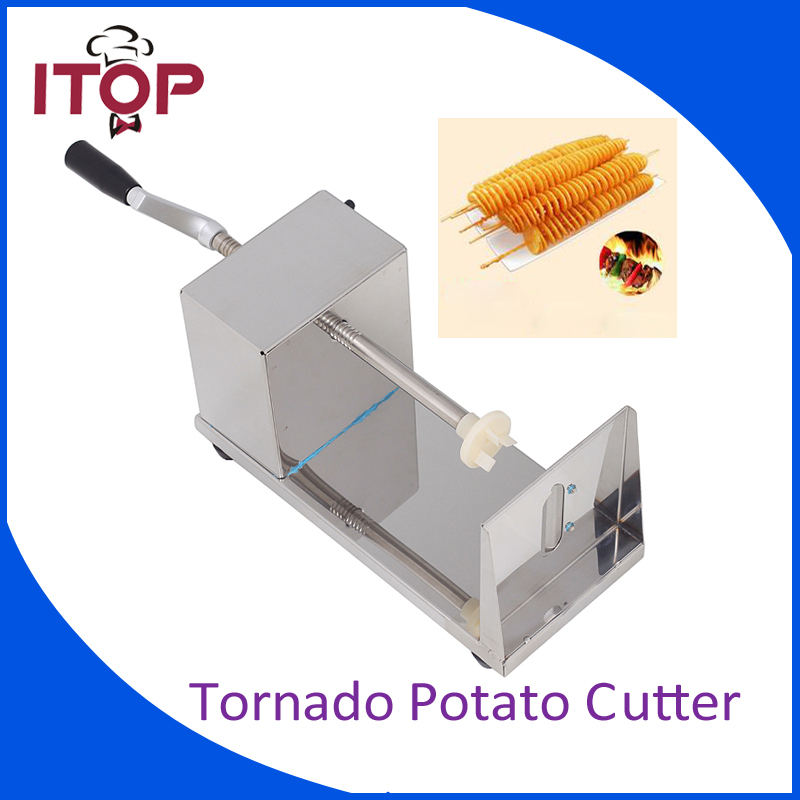 купить ITOP Stainless Steel Vegetable Cutter Twisted Potato Slicer Tornado Carrot Cutting Machine по цене 2629.25 рублей