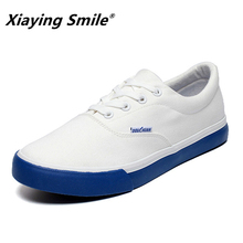 2020 Brand Mens Canvas Casual Shoes Classic Fashion Male Lace up Flats White Men Flat Heel Sneakers tenis masculino lightweight