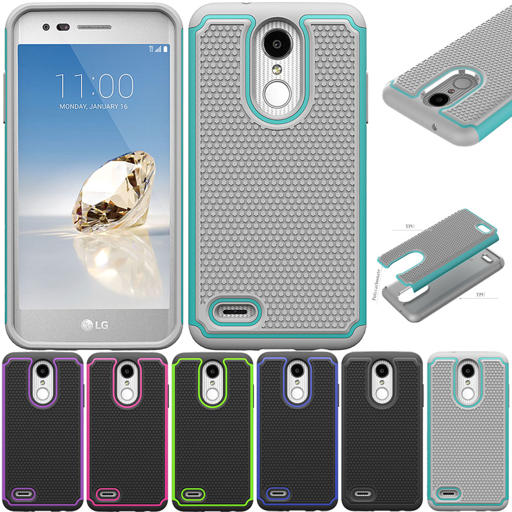 Heavy Duty Rugged Case Dual Layer Back Cover For LG Aristo