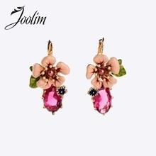 JOOLIM Jewelry Wholesale/ Luxury Flower Stud Earring Design Earring Charm Earring Good Quality