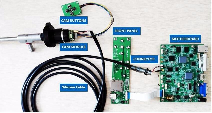 1080P60FPS FULL HD ENDOSCOPIO MEDICO PARTI RECORD di FOTOCAMERA SCHEDE PCB MODULO di MEMORIZZAZIONE USB CAPTURE, OEM LAPAROSCOPIA ent Artroscopia