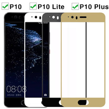 Tempered Glass For Huawei P 10 Lite Plus Screen Protector Film On Huaweel P10plus P10 Light Full Cover Safety HD Film On P10lite