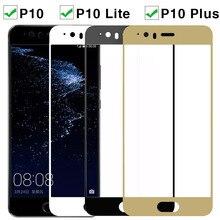 Verre trempé pour Huawei P 10 Lite Plus Film protecteur décran sur Huaweel P10plus P10 lumière couverture complète sécurité HD Film sur P10lite