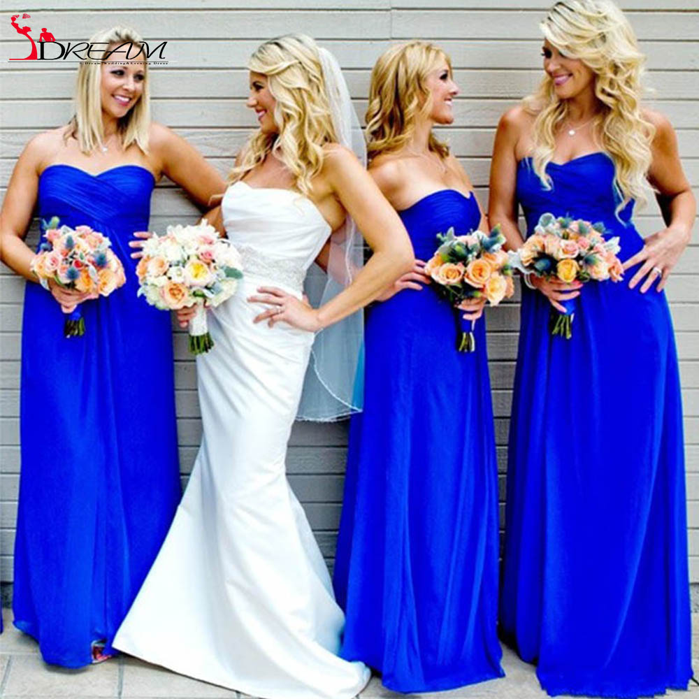 Charmming 2016 bridesmaid dresses royal blue chiffon custom made charmming 2016 bridesmaid dresses royal blue chiffon custom made long cheap low price wedding party dresses promotion in bridesmaid dresses from weddings ombrellifo Images