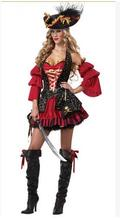 Pirate Costume Women Adult Halloween Costumes Fantasia Fancy Dress Caribbean Pirates Carnival Performance Clothing