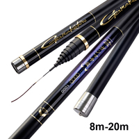 2018 Japan Long Taiwan Fishing Rod 8m 20m Front end Rods Power Hand Crap Pole Stream peche