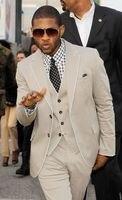 2017 Latest Coat Pant Design Light Grey Wedding Suits for Men Jacket Groom Blazer Custom Terno Slim Fit 3 Piece Tuxedo Masculino