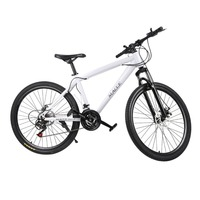 21 Speeds 26 Inch Racing Bicycle Unisex Double Disc Brakes Mountain Road Bikes Waterproof Shock Absorber