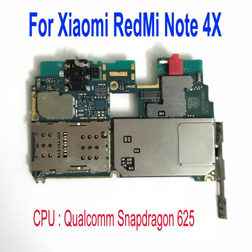 LTPro Mobile Électronique panneau carte mère Carte Mère débloqué avec puces Circuits Pour Xiaomi RedMi hongmi NOTE4X NOTE 4X