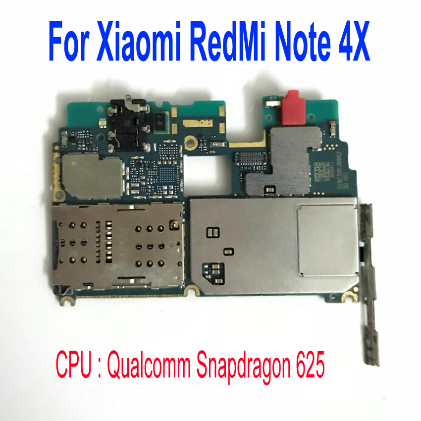 Original Unlock Mobile Electronic mainboard <font><b>Motherboard</b></font> with Full chips Circuits For <font><b>Xiaomi</b></font> <font><b>RedMi</b></font> <font><b>NOTE</b></font> <font><b>4X</b></font> <font><b>NOTE</b></font> 4 Global Version image