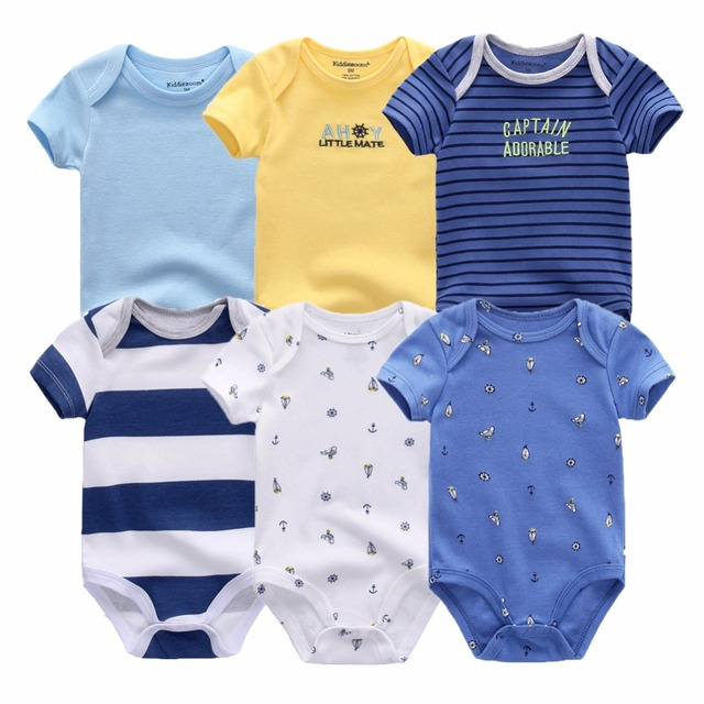 Baby bodysuits short sleeve 6 pcs/lot for 0-12M baby 1