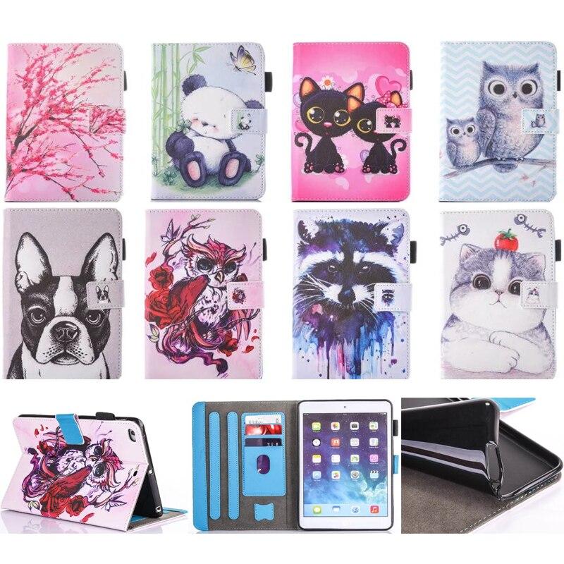 Tablets & E-books Case Fashion Cute Cartoon For Ipad 2 3 4 Animal Owl Dog Fox Wallet Card Pu Leather Stand Case Cover For Ipad2 Ipad3 Ipad4 Fundas Capa Computer & Office