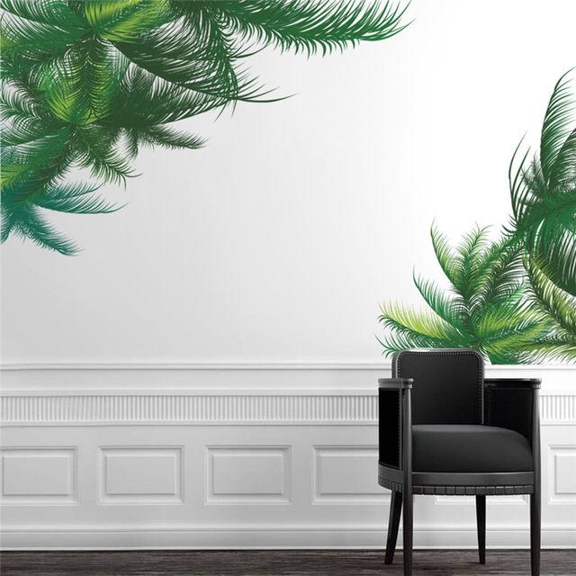 Green Palm Tree Wall Sticker Living Room Bedroom TV Background Decor Wall  Decal Art Home Decor 3d Mural Art Poster Wallpaper