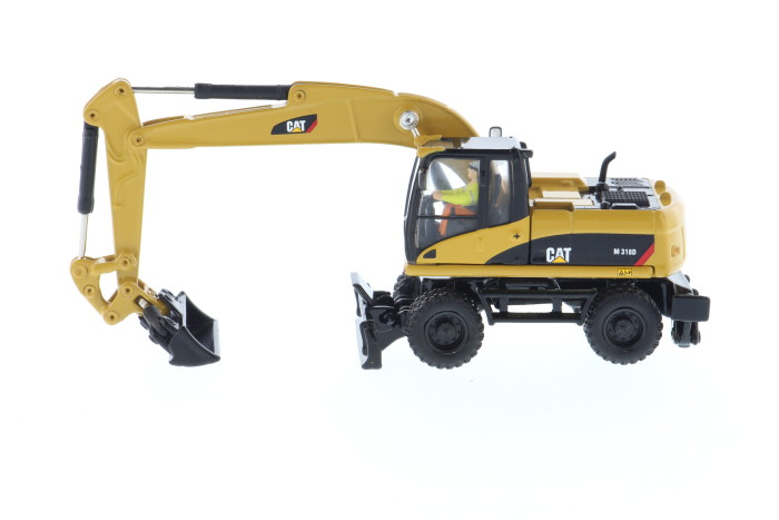 Norscot 1:87 Caterpillar Cat M318D Wheel Excavator Crawler Engineering Machinery 55177 Diecast Model For CollectION,Decoration